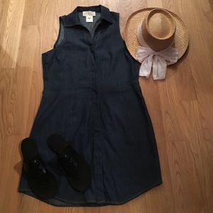 "Julie Brown Dresses & Skirts - New Julie Brown light cotton ""denim"" dress"