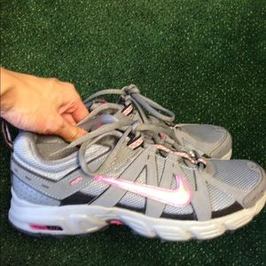 Nike trail grey pink sneakers size 10.5