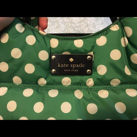69 off kate spade handbags kate spade quilted green polka dot kate spade quilted green polka dot purse junglespirit Gallery