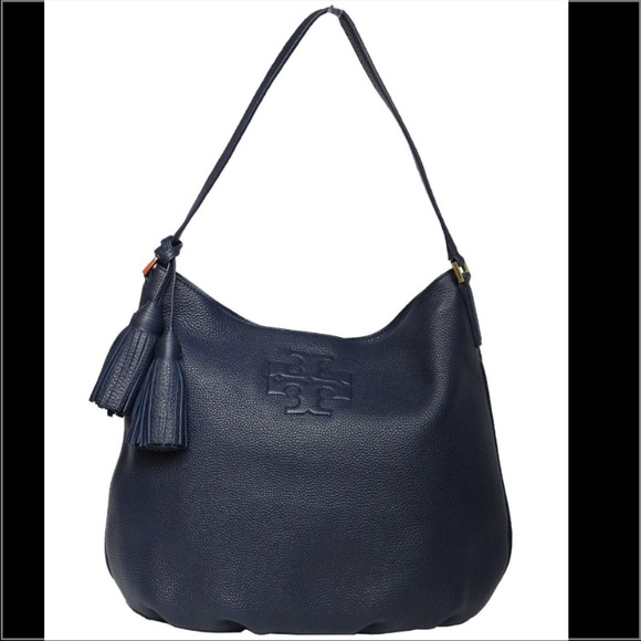 a709dcf33d58 🆕TORY BURCH THEA HOBO SHOULDER BAG LEATHER NAVY