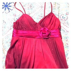 Sparkly Red Formal Dress