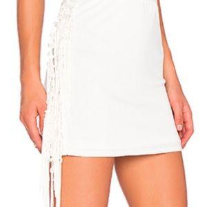 T-Bags Dresses & Skirts - NWT T-Bags Los Angeles Fringe Mini Skirt