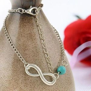 Jewelry - BOGO!  New silver Infinity anklets with bead!