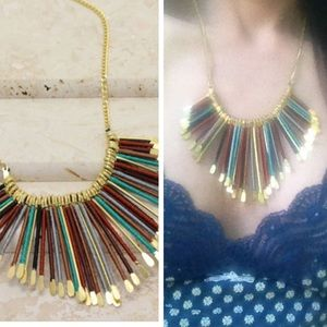 •boho fringe necklace•