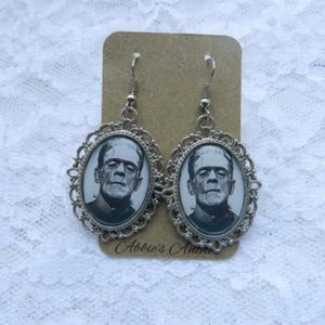 Abbie's Anchor Jewelry - Frankenstein Cameo Earrings