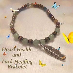 Boho Gypsy Sisters Jewelry - Heart Health and Luck Healing Bracelet