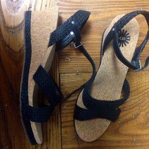 UGG Shoes - NIB Ugg LUANN wedge Sandal Sz 8