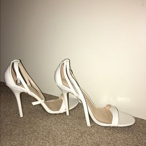 Shoes - White Brand New Strappy Heels size 9