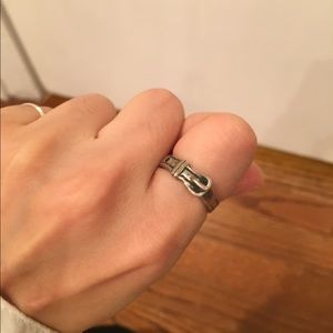 Vintage sterling silver buckle ring size 6