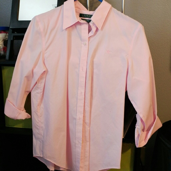 50 Off Ralph Lauren Tops Light Pink Ralph Lauren Button