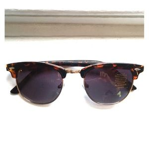 Epic Brand Accessories - Tortoise/Gold Clubmaster Sunglasses