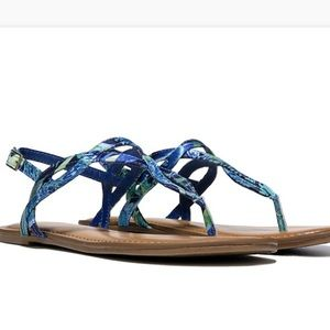 Fergalicious Shoes - Fergalicious blue floral sandals
