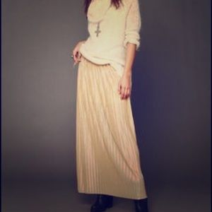 Dress The Population gold maxi skirt
