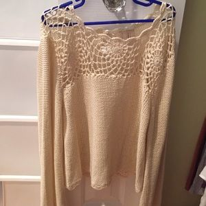 Long sleeve flower lace shirt