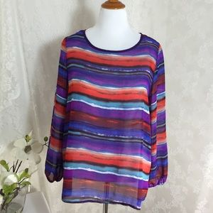 Amazing sheer fabric blouse. Box 004