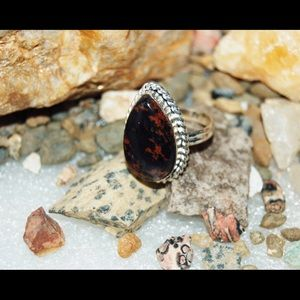 Mahogany Obsidian Statement Ring Size 8