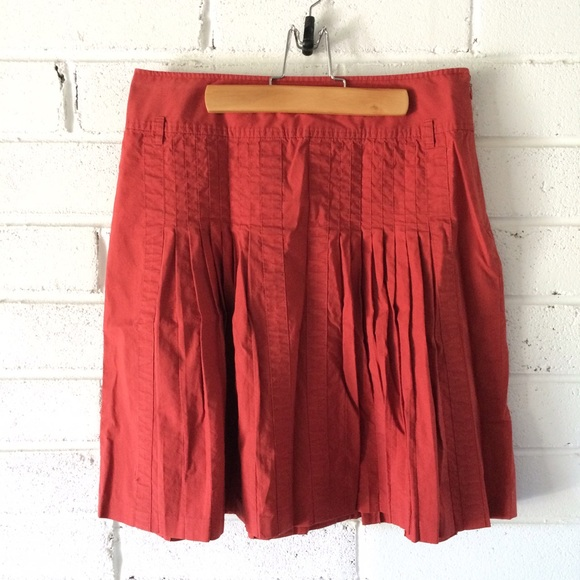 loft loft orange pleated skirt from beth
