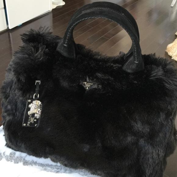 Prada Bags   Faux Rabbit Fur Tote   Poshmark 2f6edd0101