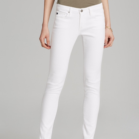 62% off AG Adriano Goldschmied Denim - White AG Jeans Skinny The ...
