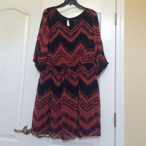 Dresses & Skirts - Navy and reddish coral dress