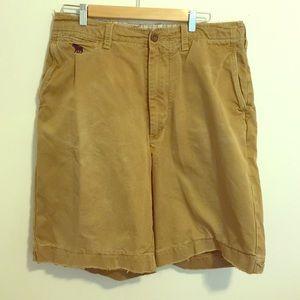 Abercrombie & Fitch distressed khaki Men's shorts