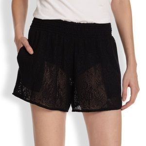 Alice + Olivia Other - ALICE+OLIVIA $200 BLACK SHEER MESH COVER-UP SHORTS