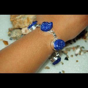 "Handpainted Drusy Statement Bracelet 7 1/2""-8"""