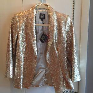New York & Company Jackets & Blazers - NY&C new gold sequins jacket