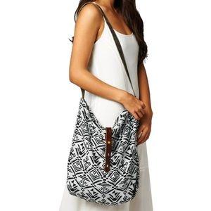 Southern Girl Fashion Handbags - TRIBAL TOTE Printed Crossbody Saddle Tapestry Mini