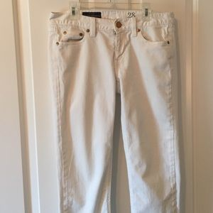 J. Crew White Chopped Matchstick Jeans - Size 28