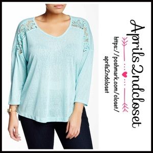❗️1-HOUR SALE❗️Tunic Pullover Crochet Trim