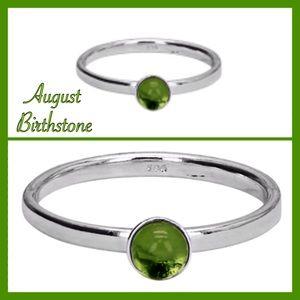 Jewelry - Sterling Silver Birthstone Ring