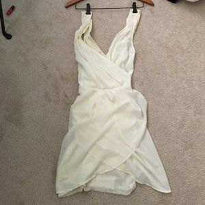 Cream Drape Dress