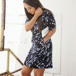 Black & Blue Print Dress