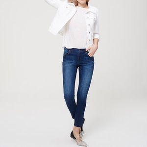 LOFT Denim - Ann Taylor Loft Modern Skinny Dark Wash Jeans, 0