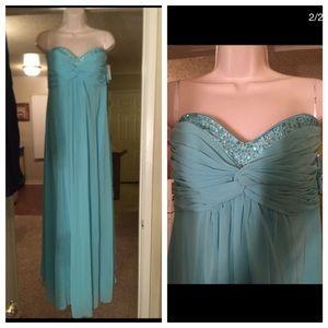 David's Bridal Dresses & Skirts - Tiffany blue Formal dress (bridesmaid dress)