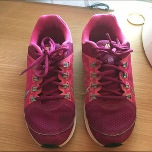 46% off Nike Shoes - Girl Nike running shes sz 7 pink with nike+ from