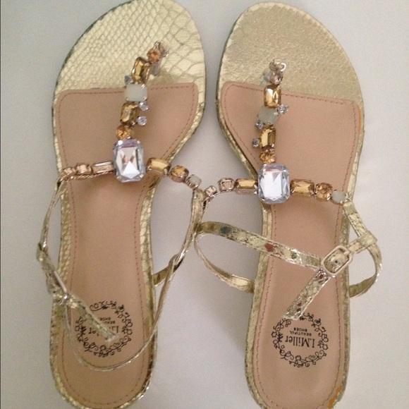 fbc87ed259cc4a ASOS Shoes - Gold Jeweled Sandals