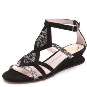 House of Harloq 1960 Spike Exotic Wedge Sandals