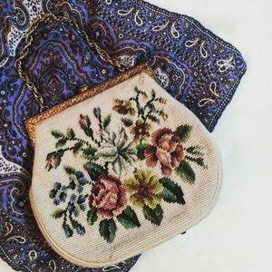 Handbags - SALE!! Vintage Needlepoint Purse