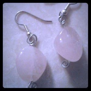 SALE! Handmade Rose Quartz gemstone Earrings