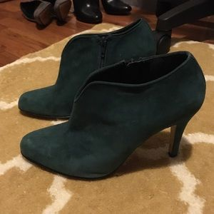Nine West Shoes - Nine West Teal suede ankle booties