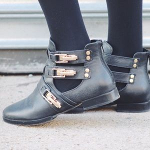 Modern Vice Shoes - 🔔 BUCKLE CUT OUT ANKLE BOOTS