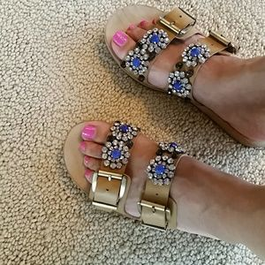 Ellen Tracy Rhinestone Sandals shoes