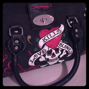 💯authentic Ed hardy tote