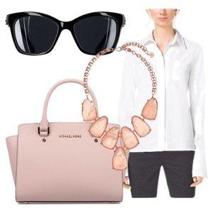Thomas Pink Tops - Thomas Pink Brand white button down ribbed blouse