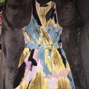 Akiko Dresses & Skirts - Akiko silk sleeveless racerback dress w/ pockets