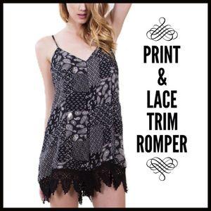 Pants - Print Romper
