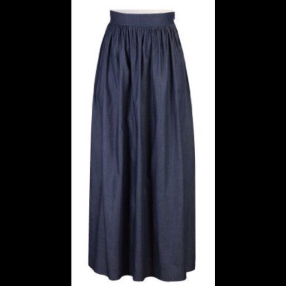 3f7c749ac4a eshakti Dresses   Skirts - New Eshakti Chambray Maxi Skirt 16W Long