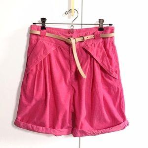 Zara High-Waisted Corduroy Shorts